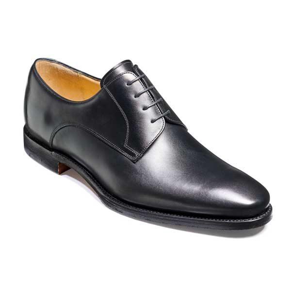 BARKER Ellon Shoes - Mens Derby Shoes - Black Calf
