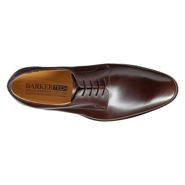 BARKER Ellon Shoes - Mens Derby Shoes - Dark Walnut Calf