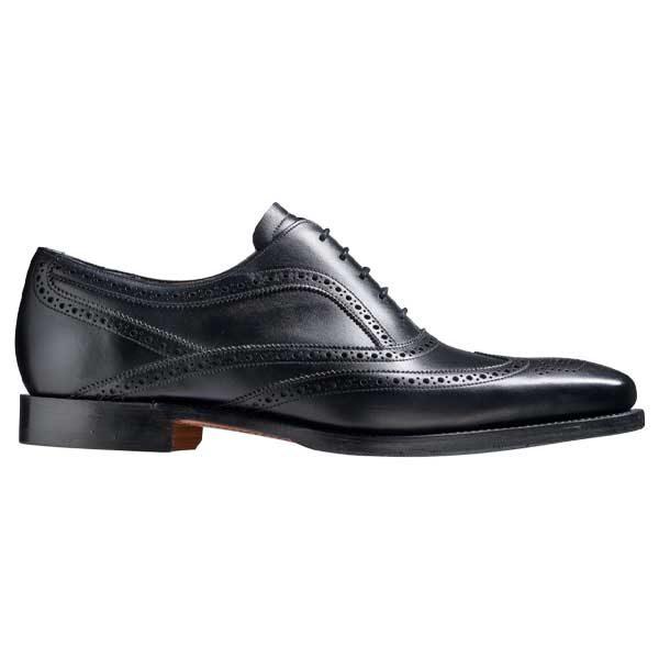 BARKER Turing Shoes - Mens Oxford Brogue Shoes - Black Calf