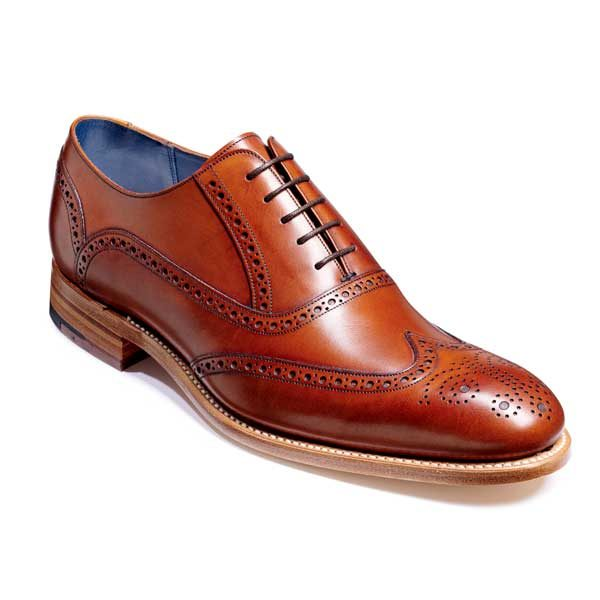 BARKER Valiant Shoes - Mens Brogue Shoes - Rosewood Hand Painted