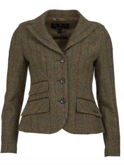 BARBOUR Tailored Jacket - Ladies Rannerdale - Olive & Aubergine