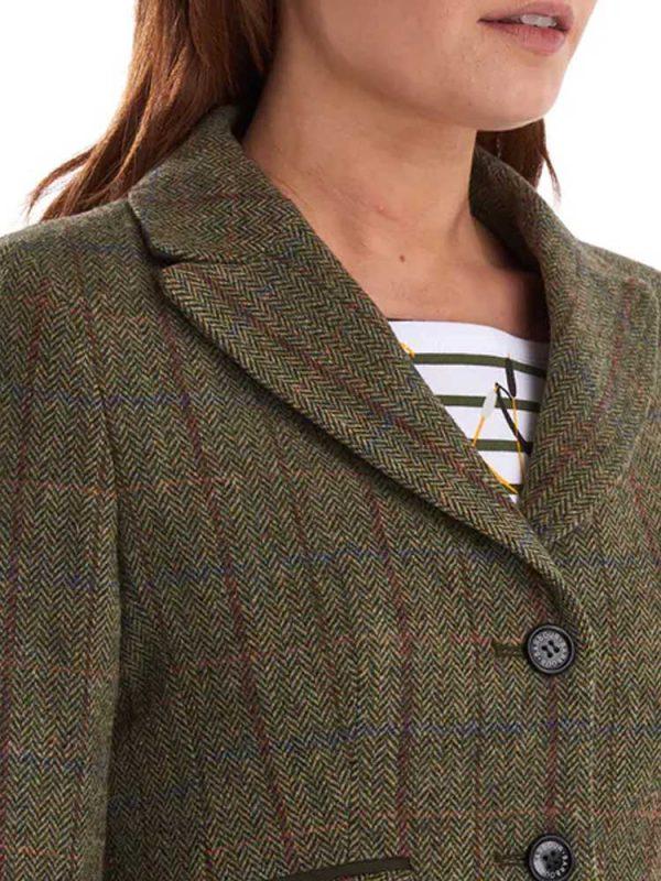 BARBOUR Tailored Jacket - Ladies Rannerdale - Olive & Aubergine
