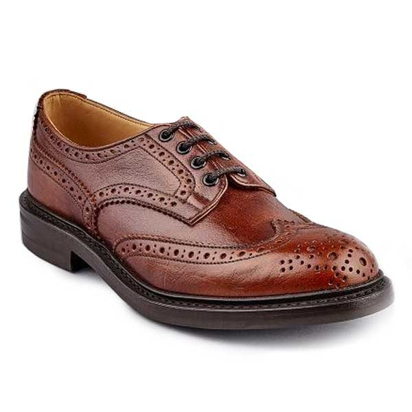 TRICKER'S Shoes - Mens Bourton Country Derby Brogues - Caramel Kudu