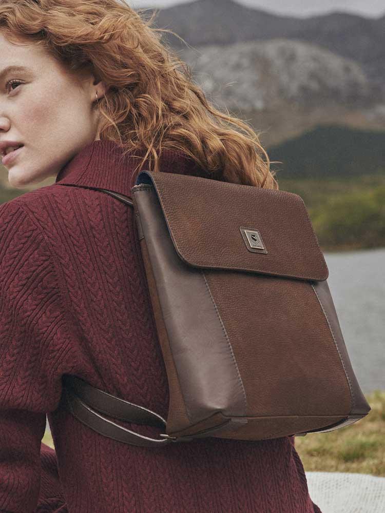 DUBARRY Convertible Bag - Ladies Dingle Leather - Black Brown