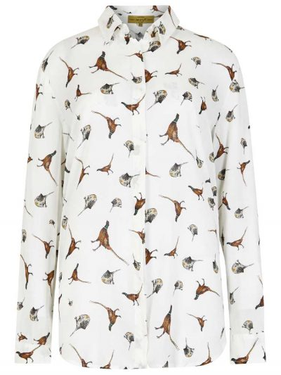 DUBARRY Shirt - Ladies Briarrose Pheasant Print - Cream