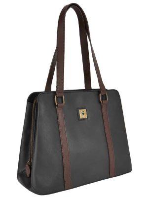DUBARRY Shoulder Bag - Ladies Kinsale Leather - Black/Brown