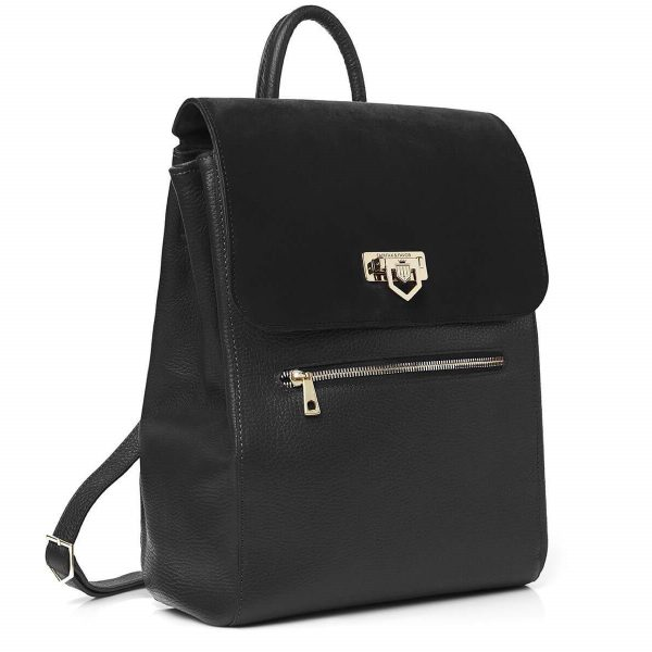 FAIRFAX & FAVOR Backpack - Ladies Loxley Leather & Suede - Black
