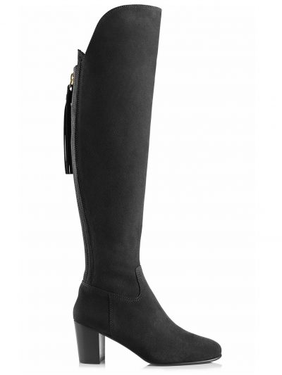 FAIRFAX & FAVOR Boots - Ladies Heeled Amira - Black Suede