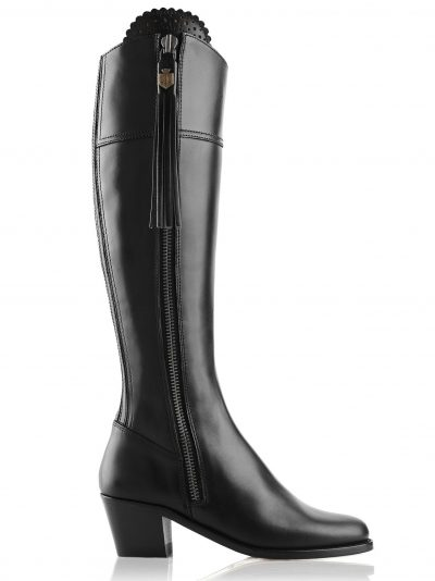 FAIRFAX & FAVOR Boots - Ladies Heeled Regina Leather - Black