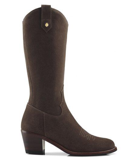 FAIRFAX & FAVOR Boots - Ladies Rockingham Mid-Calf - Chocolate Suede