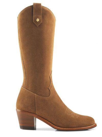 FAIRFAX & FAVOR Boots - Ladies Rockingham Mid-Calf - Tan Suede