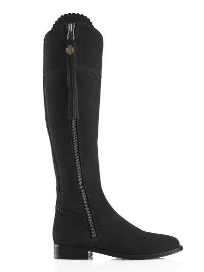 FAIRFAX & FAVOR Boots - Ladies Flat Regina - Black Suede