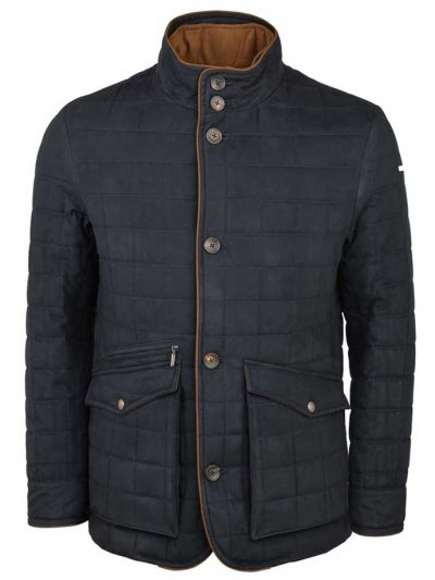 MAGEE Jacket - Mens Classic Glenveigh Quilted - Navy