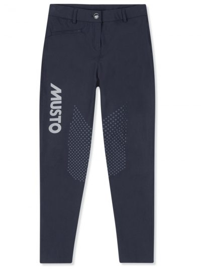MUSTO Breeches - Ladies Equestrian Lycra Logo Printed - True Navy