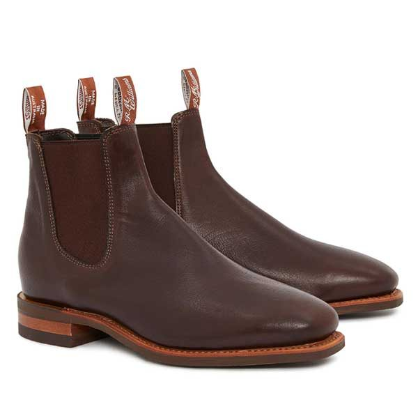 RM WILLIAMS Boots *Limited Edition* - Mens Kangaroo Comfort Craftsman - Chocolate
