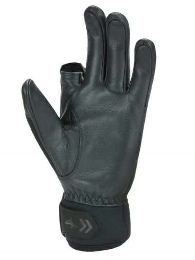 SEALSKINZ Gloves - Waterproof All Weather Shooting - Olive Green & Black