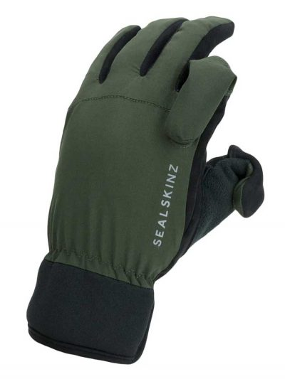 SEALSKINZ Gloves - Waterproof All Weather Sporting - Olive Green & Black