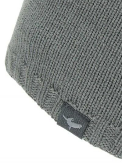SEALSKINZ Hat - Waterproof Cold Weather Beanie - Grey