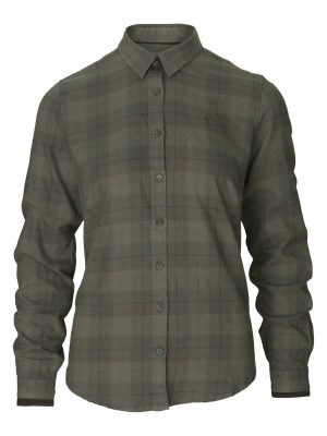 SEELAND Shirt - Ladies Range Cotton - Pine Green Check