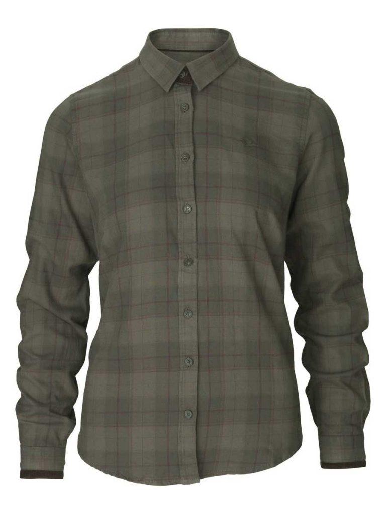 SEELAND Shirt - Ladies Range Cotton - Pine Green Check
