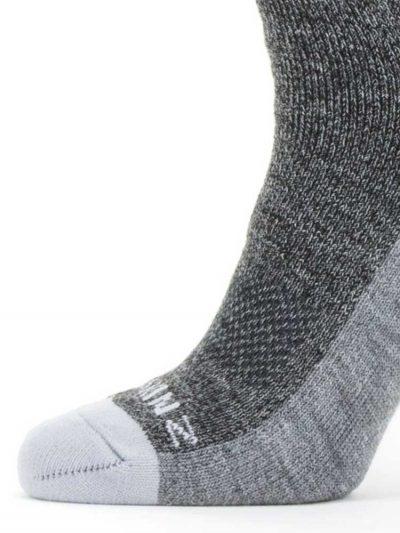 SEALSKINZ Socks - Solo QuickDry Knee Length - Grey