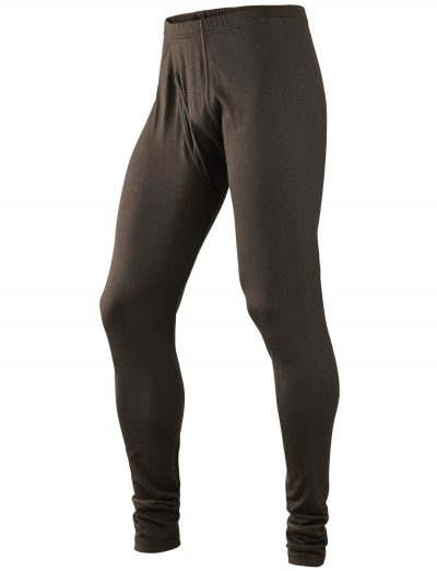 HARKILA Base Layer - Mens All Season Long Johns - Shadow Brown