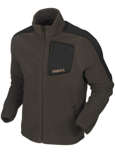 HARKILA Jacket - Mens Venjan Fleece - Shadow Brown / Black
