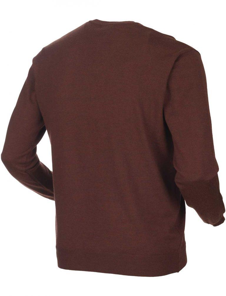 HARKILA Knitwear - Mens Glenmore Merino Pullover - Burgundy