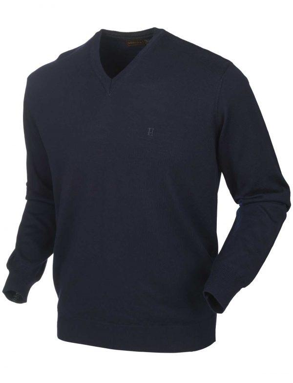 HARKILA Knitwear - Mens Glenmore Merino Pullover -Dark Navy