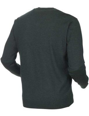 HARKILA Knitwear - Mens Glenmore Merino Pullover -Deep Forest Green