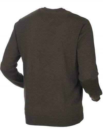 HARKILA Knitwear - Mens Glenmore Merino Pullover -Demitasse Brown