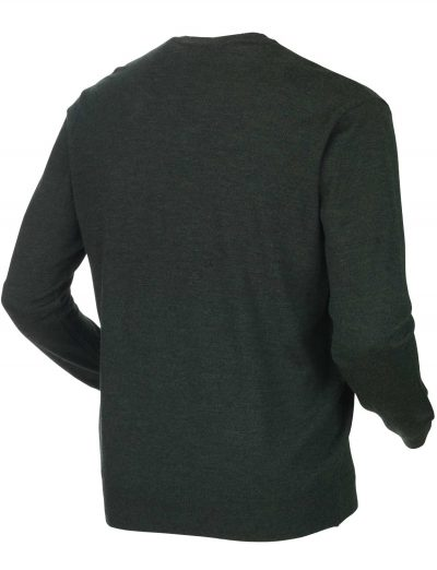 HARKILA Knitwear - Mens Glenmore Merino Pullover - Forest Green