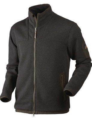 HARKILA Knitwear - Mens Norja HSP Full Zip Cardigan - Shadow Brown