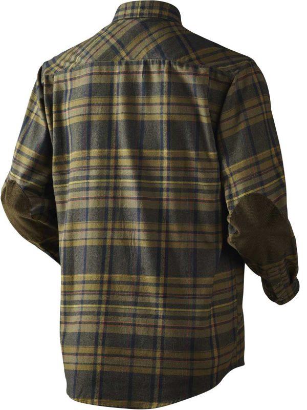 HARKILA Shirts - Mens Eide Brushed Cotton - Dark Olive Check
