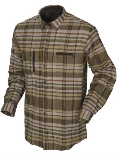 HARKILA Shirts - Mens Eide Brushed Cotton - Khaki Check