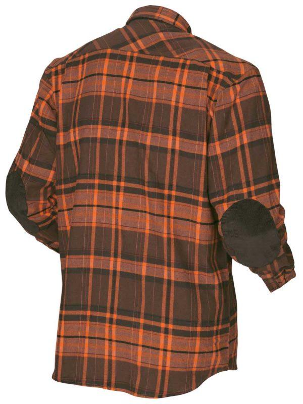 HARKILA Shirts - Mens Eide Brushed Cotton - Orange Check