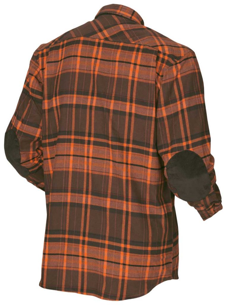 HARKILA Shirts - Mens Eide Brushed Cotton - Orange Check