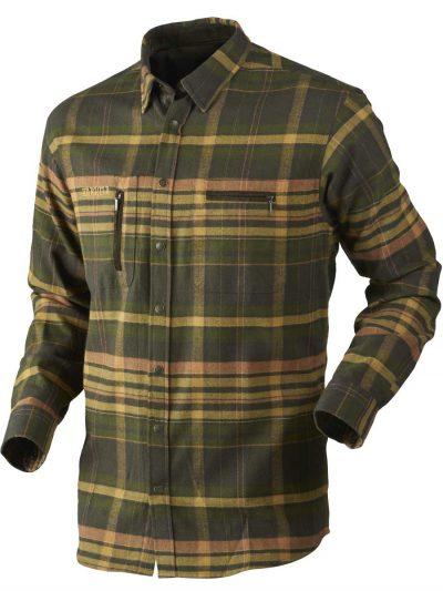 HARKILA Shirts - Mens Eide Brushed Cotton - Shadow Brown