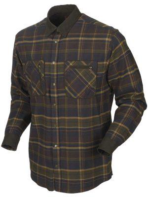 HARKILA Shirts - Mens Pajala Brushed Cotton - Mellow Brown Check