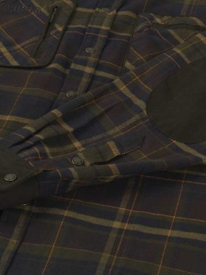 HARKILA Shirts - Mens Pajala Brushed Cotton - Mellow Brown Check