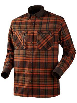 HARKILA Shirts - Mens Pajala Brushed Cotton - Burnt Orange Check
