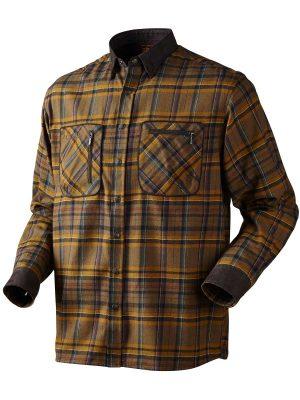 HARKILA Shirts - Mens Pajala Brushed Cotton - Tobacco Check