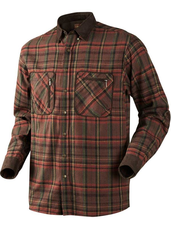 HARKILA Shirts - Mens Pajala Brushed Cotton - Red Check