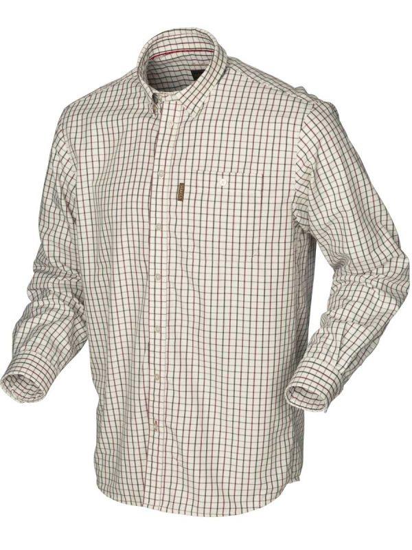 HARKILA Shirts - Mens Stornoway Active - Burgundy Check