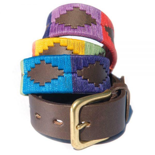 PIONEROS Polo Belt - Wide Argentinian - 167 Rainbow