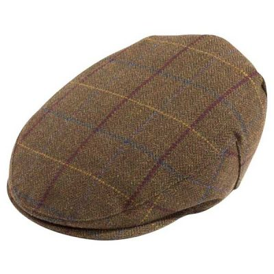 ALAN PAINE Cap – Mens Rutland Tweed – Alder