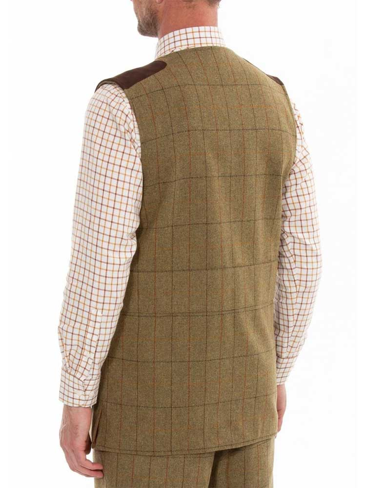 ALAN-PAINE-Shooting-Waistcoat---Mens-Combrook-Tweed---Elm
