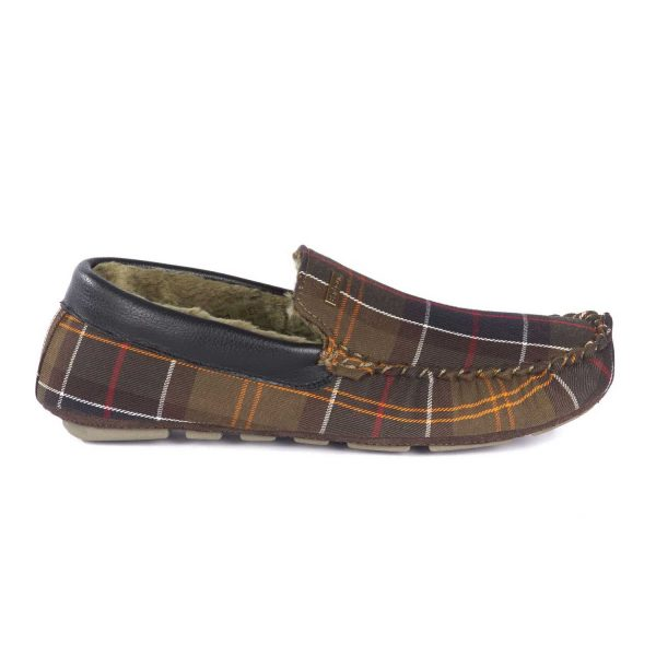 BARBOUR Slippers - Mens Monty Moccasin - Classic Tartan
