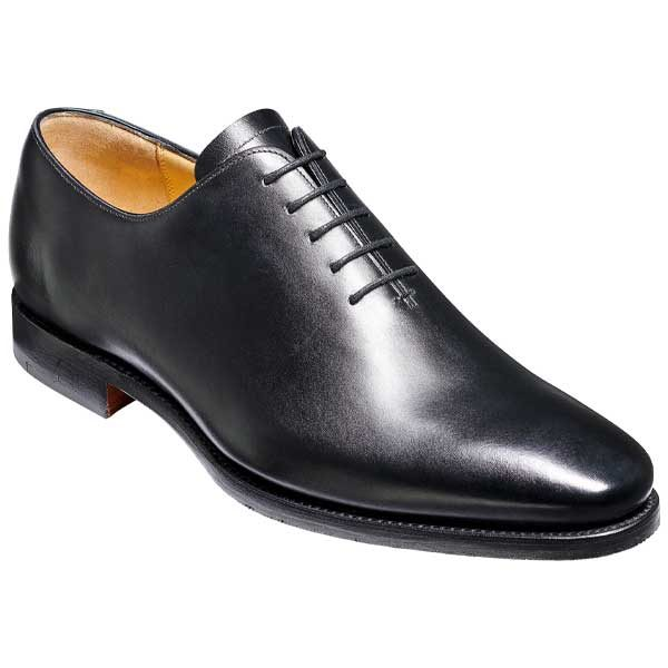 BARKER Armstrong Shoes - Mens Whole Cut Oxford - Black Calf