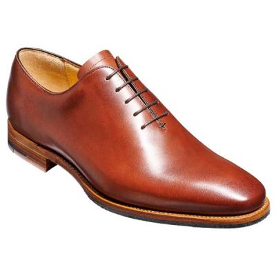 BARKER Armstrong Shoes - Mens Whole Cut Oxford - Chestnut Calf